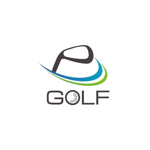 Logo de golf vecteur