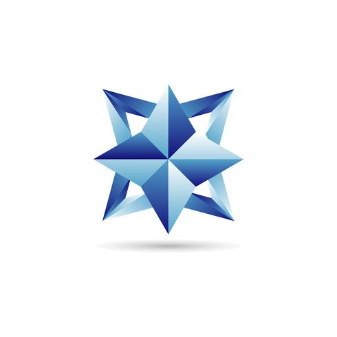logo étoile bleue vecteur