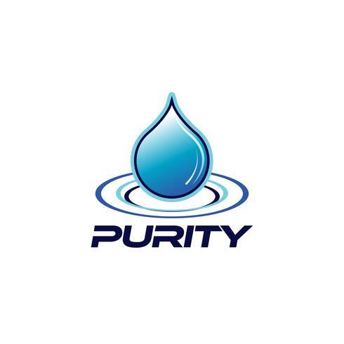 Logo Pureté Goutte vecteur