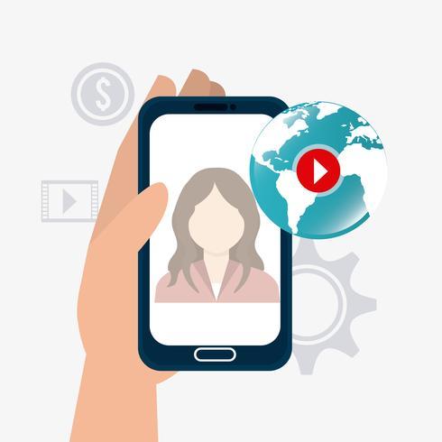 Marketing digital et social vecteur