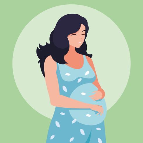 personnage avatar femme enceinte vecteur