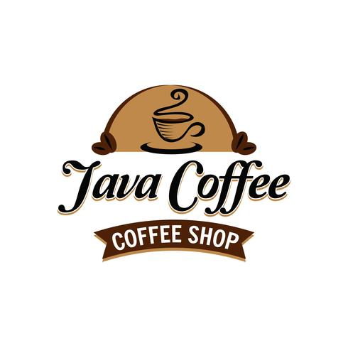 Logo de café vecteur