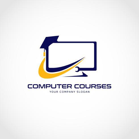 Logo de cours d'informatique vecteur