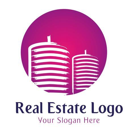 Modèle de logo immobilier vecteur