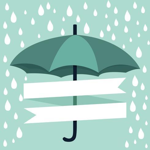 parapluie avec pluie vecteur
