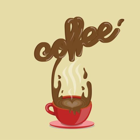 vecteur café éclaboussant