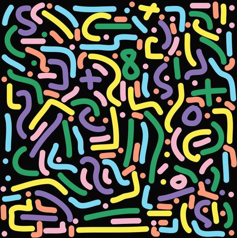 motif coloré rétro vecteur