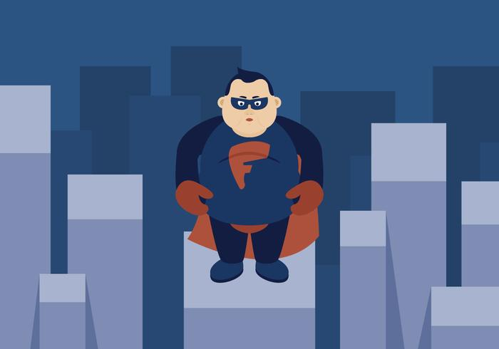 Super héros gros gars vecteur