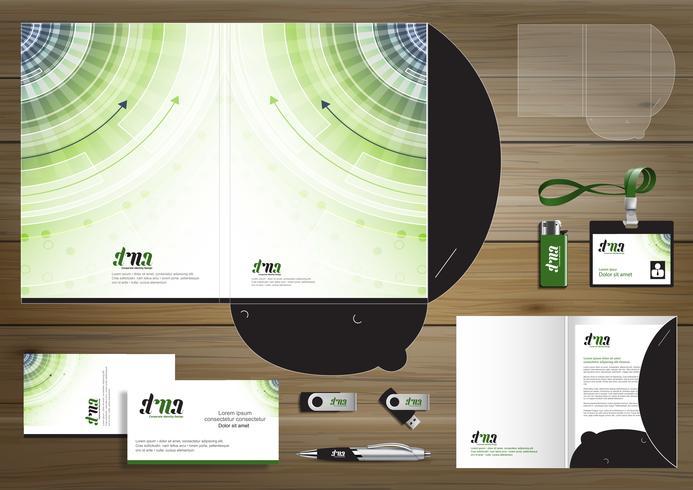 Dossier et éléments de Corporate Design vecteur