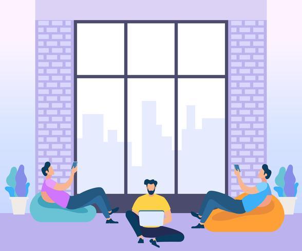 Concept de collègues de travail en réunion vecteur