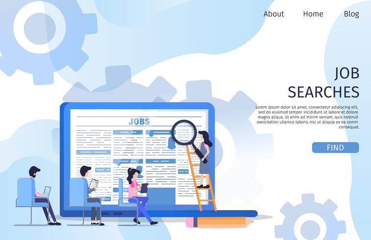 Entrevue Recherche d'emploi Emploi Caractère Employé vecteur