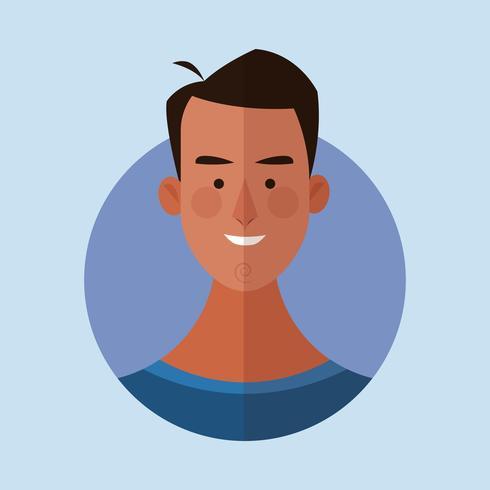 caricature de visage d'homme vecteur