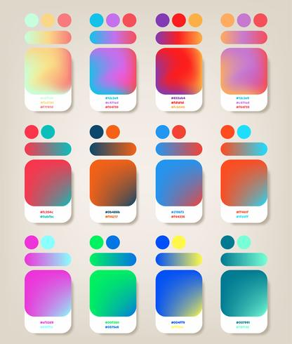 Pack de dégradé de couleurs vecteur