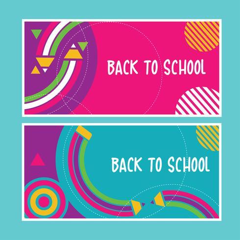 retour aux bannières scolaires vecteur