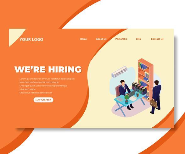 Page Web entreprise indépendante vecteur