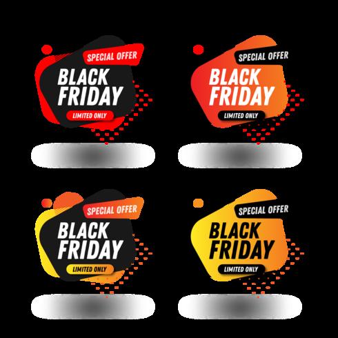 Modèle de conception du pack bannière Black Friday Sales vecteur