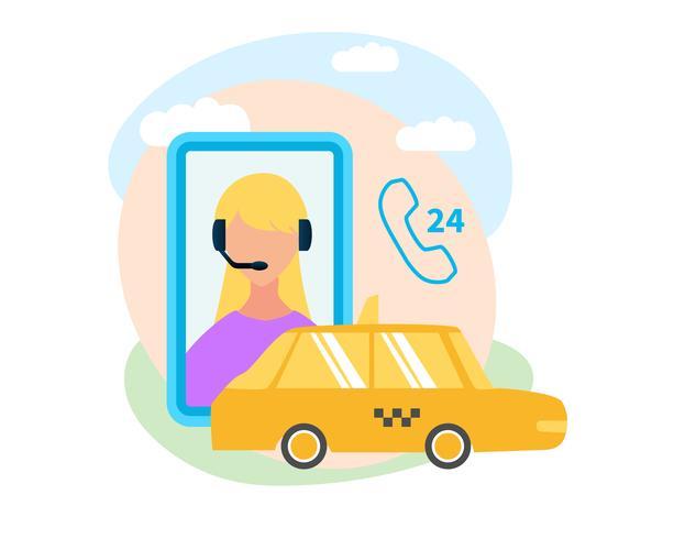 Application mobile pour la réservation d'un taxi vecteur