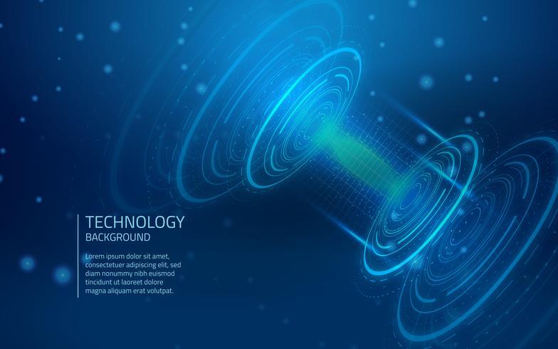 Contexte de la cyber-technologie bleue vecteur