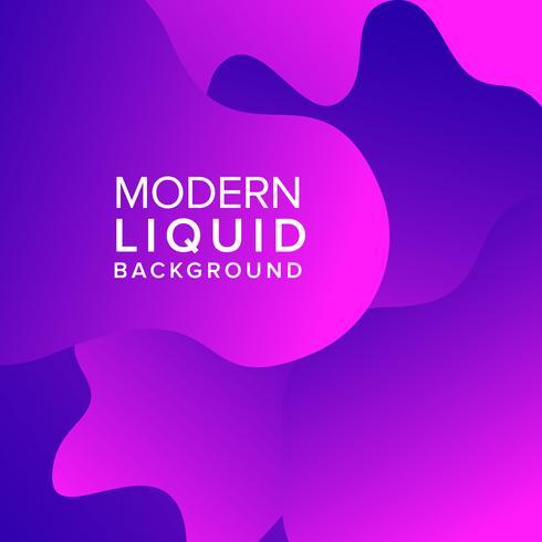 Design de fond de couleur liquide fluide violet vecteur
