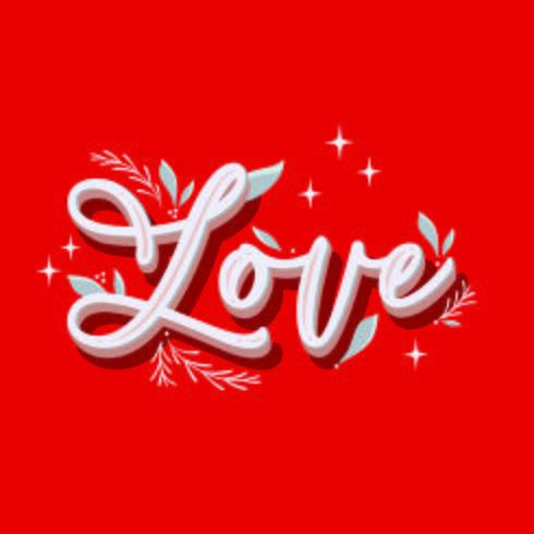 Illustration de lettres d'amour à la main vecteur