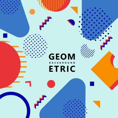 fond de formes géométriques vecteur