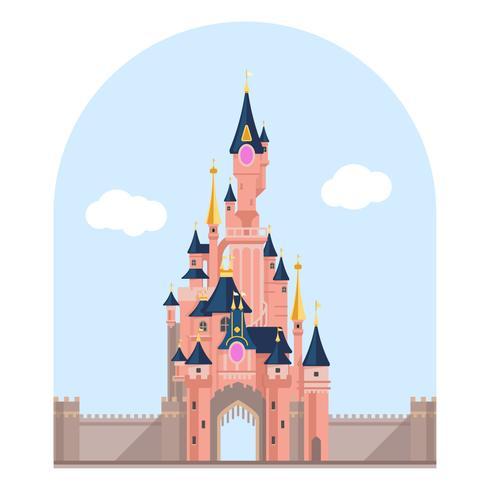 Ville de château mystérieuse vecteur