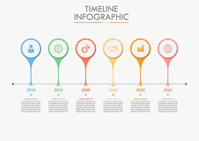 Infographie de la chronologie vecteur