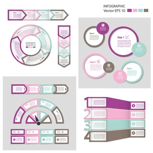 Module de diagramme de processus. Jeu d'infographie. vecteur