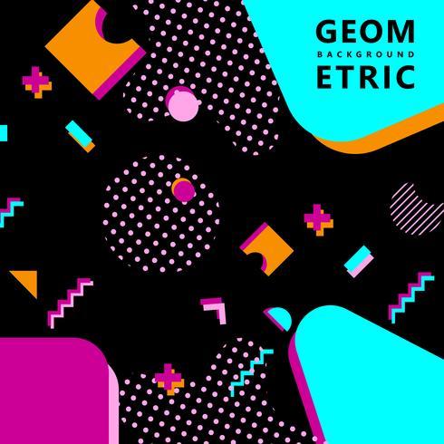 fond de hipster de formes géométriques à la mode de memphis vecteur