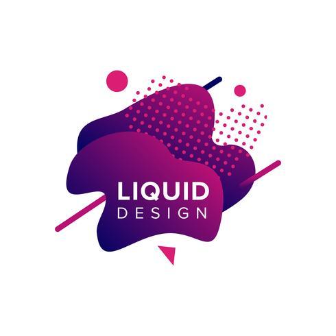 Forme liquide colorée vecteur