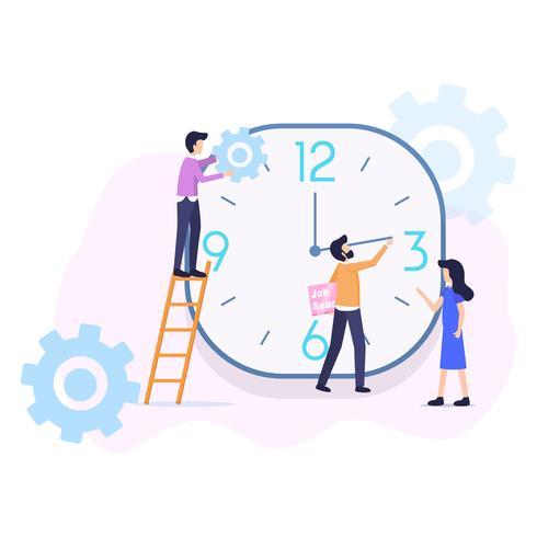 Organisation de gestion du temps vecteur