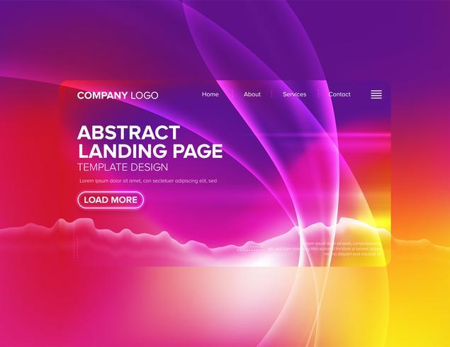 Conception de modèle de page d'atterrissage vecteur