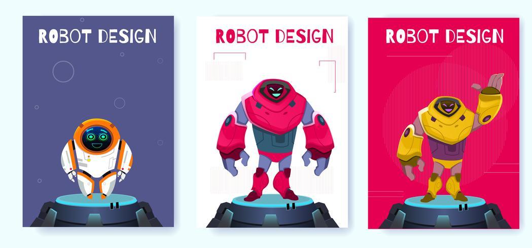 Affiche de robot de nouvelle génération vecteur