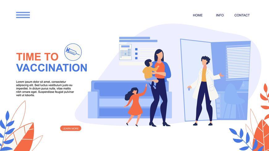 Page de destination pour la vaccination vecteur