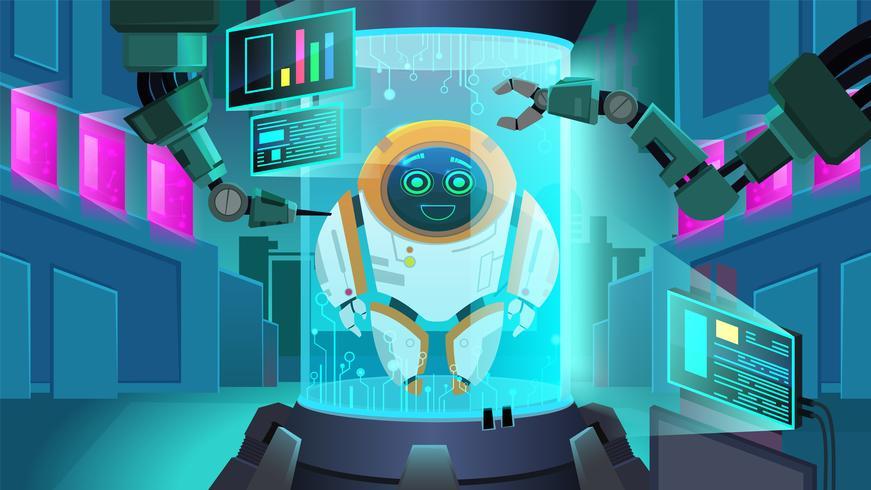 Créer un robot de nouvelle génération vecteur