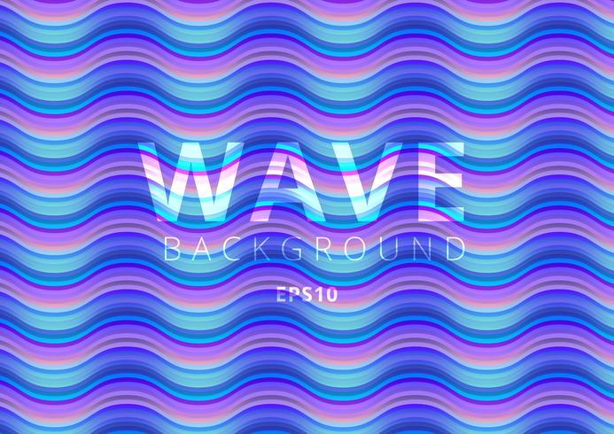 Modèle liquide de flux coloré moderne Wave vecteur