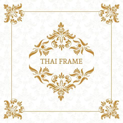 Bordure de cadre sur le thème thaïlandais de vecteur