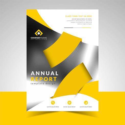 Modèle de conception d'entreprise de rapport annuel vecteur