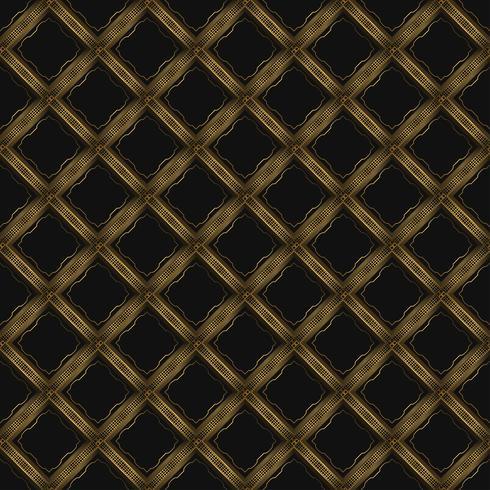 Fond de luxe avec motif géométrique doré vecteur