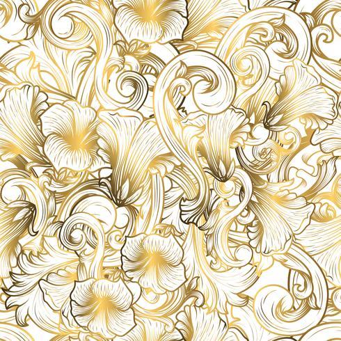 Fond de luxe avec la couleur d'or vecteur