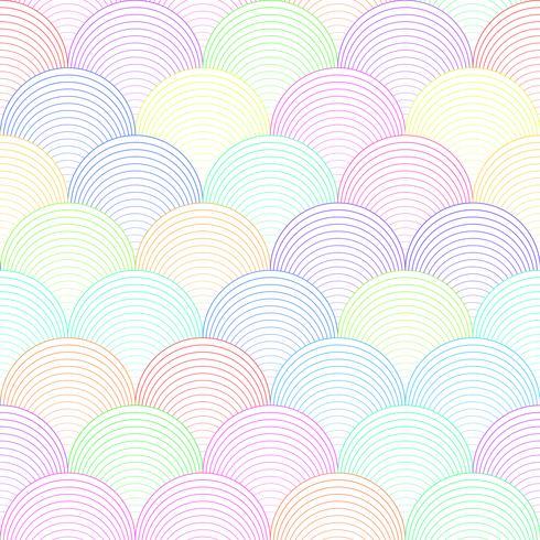 Modèle sans couture de vague de couleur vecteur