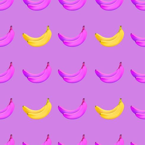 motif banane sans soudure vecteur