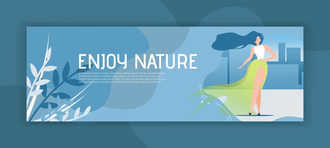 Profitez de la bannière d'en-tête Nature vecteur