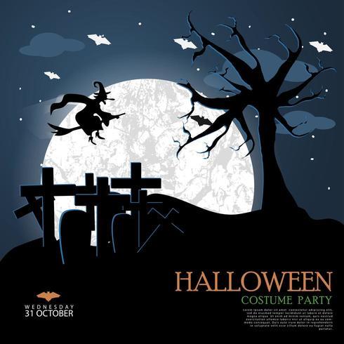 Modèle de nuit d'Halloween vecteur
