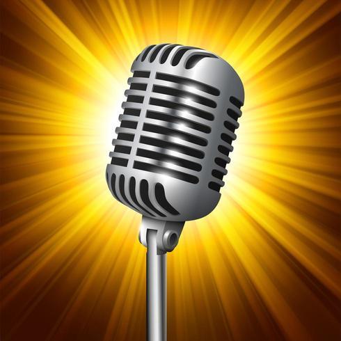 Microphone de studio vintage vecteur