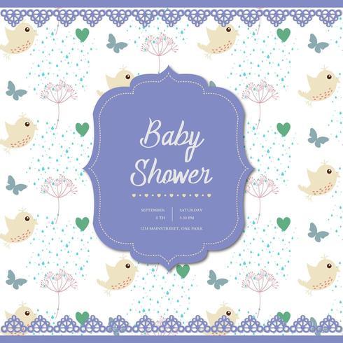 conception de cartes de douche de bébé vecteur