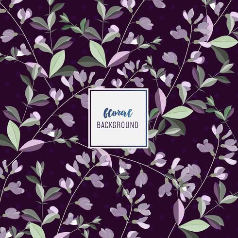Beau design de fond floral violet vecteur