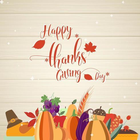Carte de voeux de joyeux thanksgiving vecteur