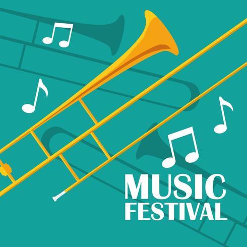 trompette instrument de musique vecteur