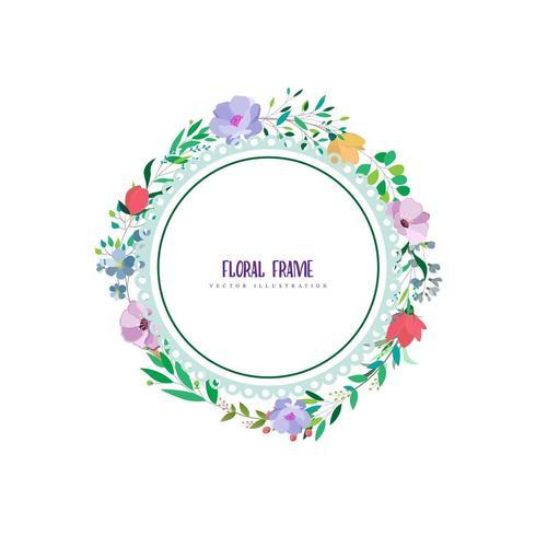 conception de cadre floral circulaire vecteur
